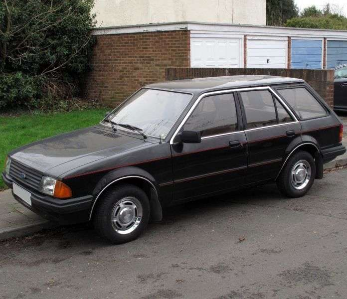 Ford Escort 3 generation wagon 5 bit. 1.3 5MT (1983–1986)