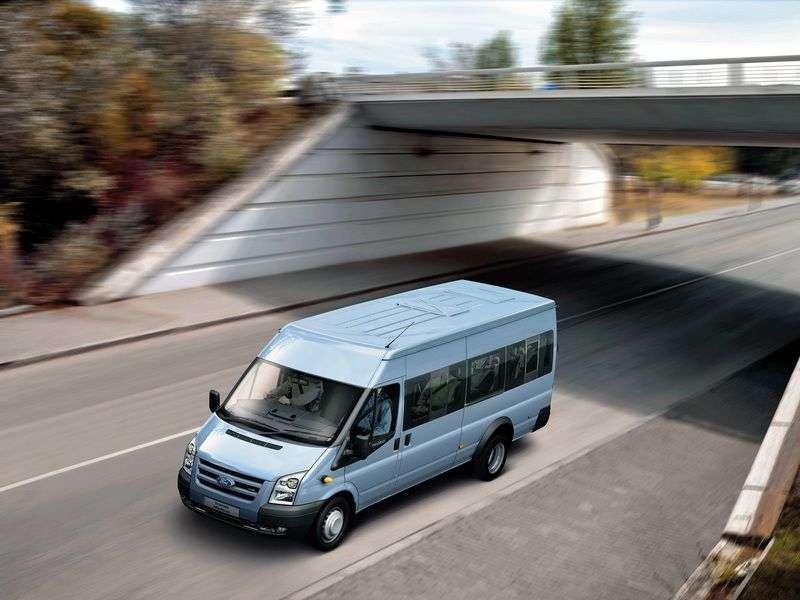 Ford Transit 6th generation minibus 4 doors 2.4 TDCi MT RWD 370 LWB Medium Roof Base (2006 – present)