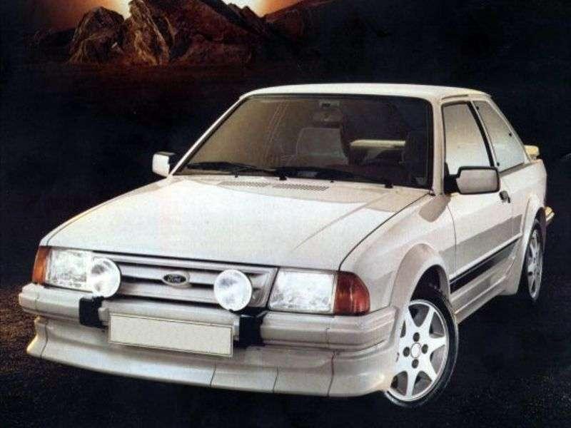 Ford Escort 3 generation RS hatchback 3 dv. 1.6 RS 1600i MT (1982–1986)