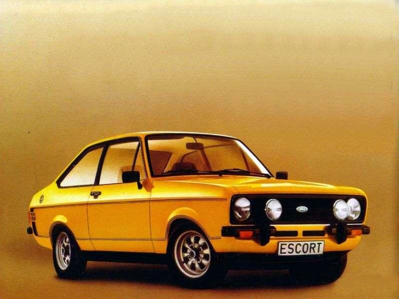 Ford Escort 2nd generation [restyling] RS coupe 2 bit. 1.8 RS 1800 MT (1978–1980)