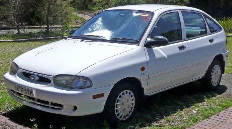 Ford Festiva 2nd generation [restyling] 5 bit hatchback 1.5 AT (1997–2000)