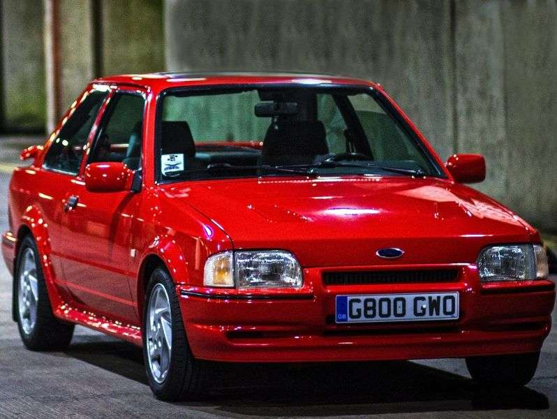 Ford Escort 4 generation RS Turbo hatchback 3 bit. 1.6 MT (1986–1990)