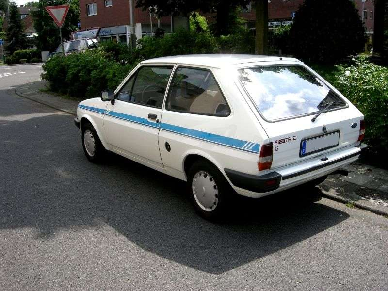 Ford Fiesta 2 generation hatchback 3 dv. 1.6 D MT (1983–1986)