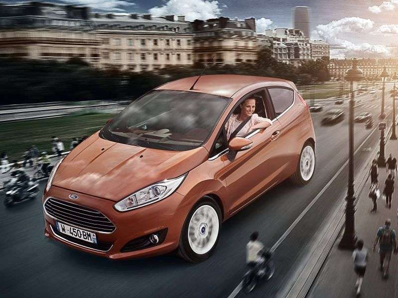 Ford Fiesta 6th generation [restyling] 3 bit hatchback 1.6 TDCi ECOnetic MT (2013 – current century)