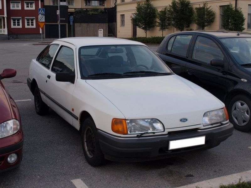 Ford Sierra 1st generation [restyled] 3 bit hatchback 2.0 MT 4x4 (1989–1993)