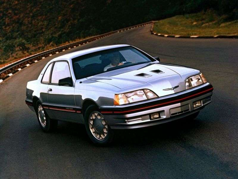Ford Thunderbird 9th generation [restyling] Turbo Coupe 2.3 AT coupe (1987–1988)