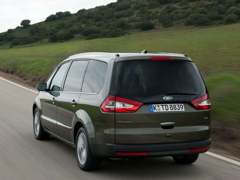 Ford Galaxy 2nd generation [restyled] minivan 2.0 EcoBoost PowerShift Ghia (2012) (2010 – n.)