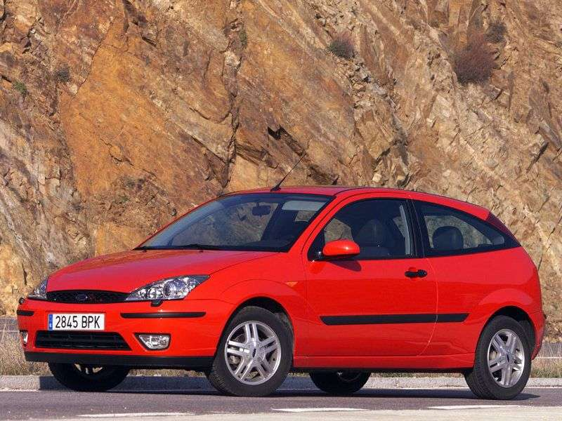 Ford Focus 1st generation [restyling] 3 bit hatchback 1.8 MT (2001–2004)