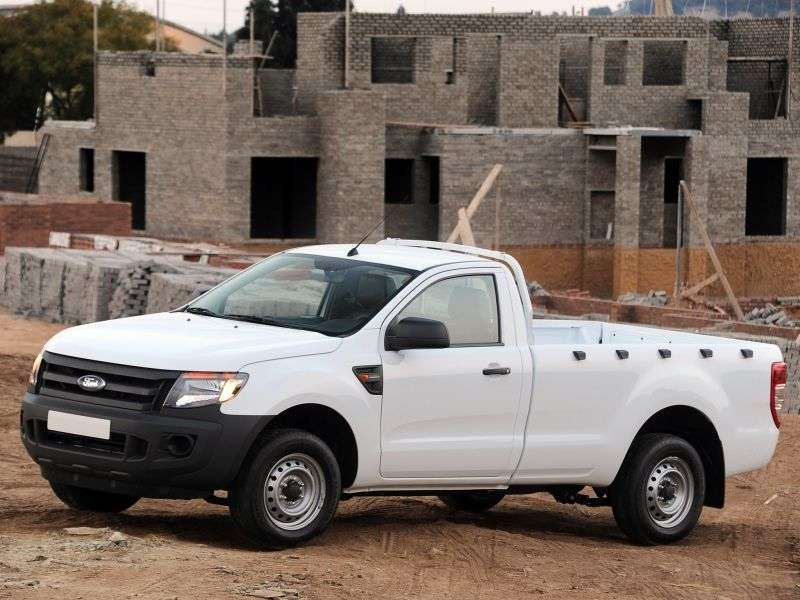 Ford Ranger 5 generation Single Cab pick up 2 bit. 2.2 TD MT 4x4 (2012 – present century)