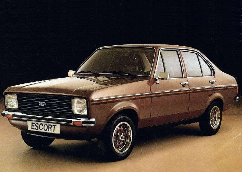 Ford Escort 2nd generation [restyling] 1.6 MT sedan (1978–1980)