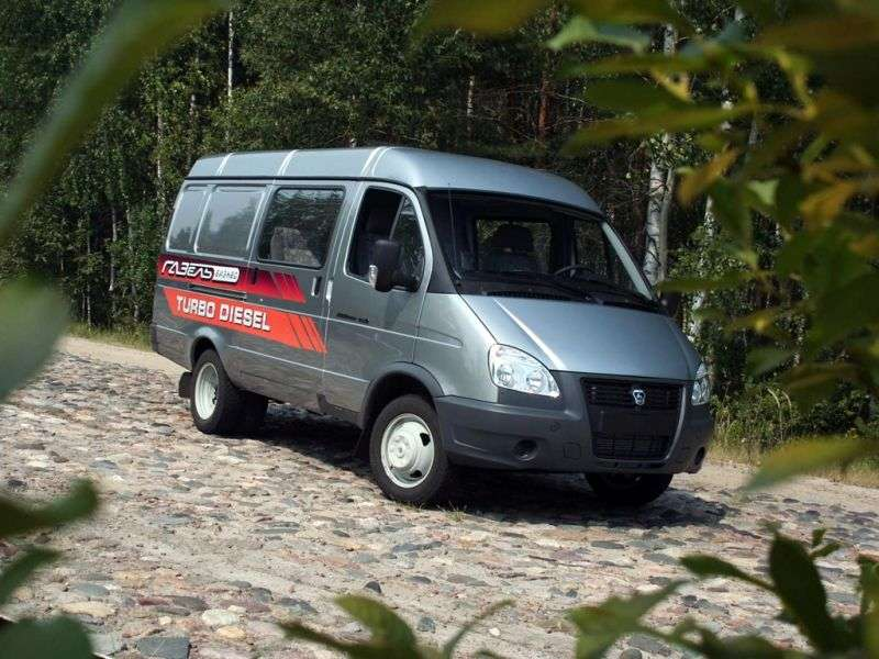 GAZ 2705 Gazelle Business [2nd restyling] Combi minibus 27057 2.8 TD MT AWD 27057 369 (2010 – current century)