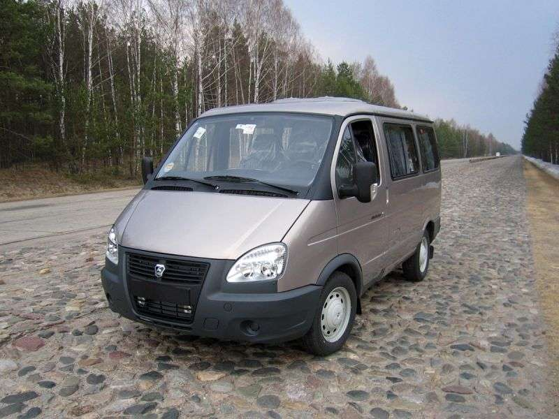 GAZ 2217 Sable Barguzin Business [2nd Restyling] minibus 4 dv. 22171 2.9 MT H2 10 seats. 22171 5288 (2010 – current century)
