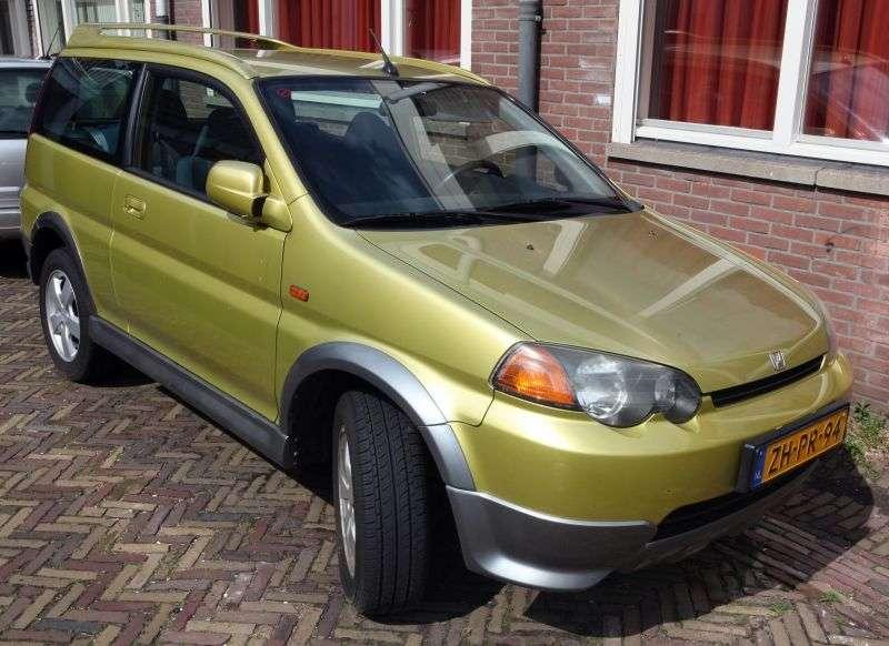 3 drzwiowy crossover Honda HR V pierwszej generacji. 1,6 CVT 4WD (1998 2001)