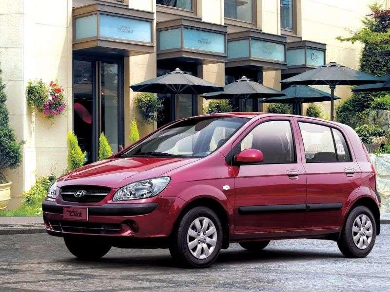 Hyundai Click 1st generation [restyling] 5 bit hatchback 1.6 AT (2005–2011)