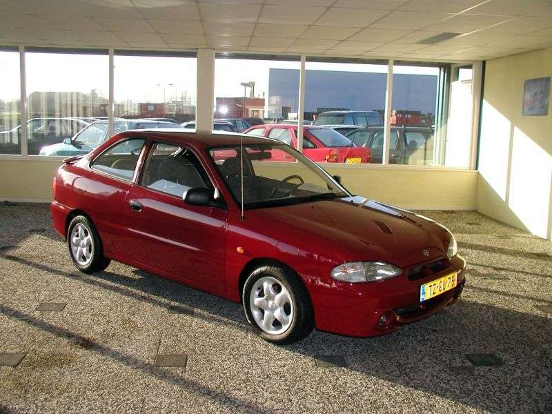 Hyundai Excel X3 [restyling] 3 bit hatchback 1.5 AT (1997–1999)