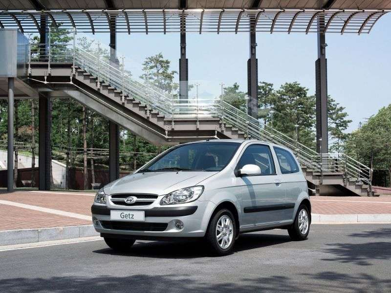 Hyundai Getz 1st generation [restyling] 3 bit hatchback 1.4 MT (2005–2011)