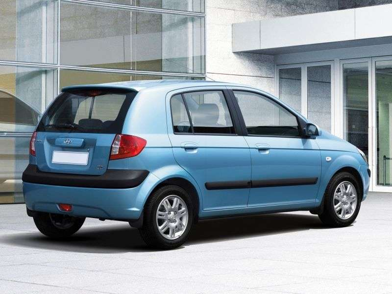 Hyundai Click 1st generation [restyling] 5 bit hatchback 1.6 MT (2005–2011)