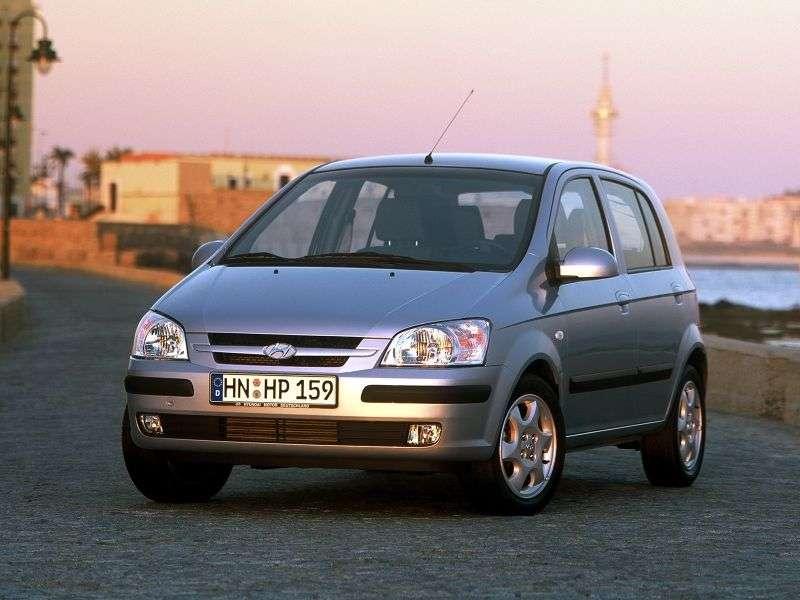Hyundai Getz 1 generation hatchback 5 dv. 1.6 MT (2002–2005)