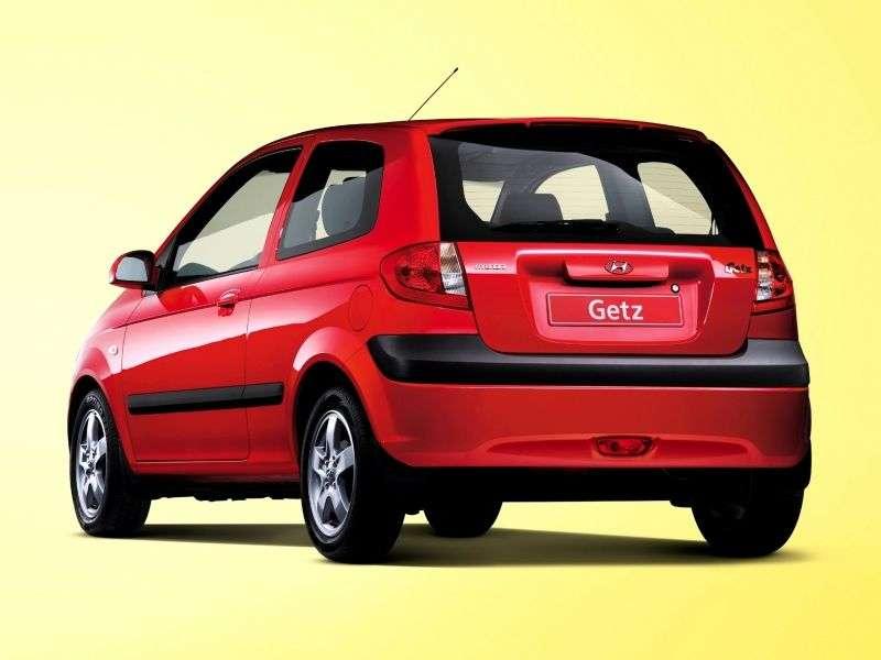 Hyundai Getz 1st generation [restyling] 3 bit hatchback 1.1 MT (2005–2011)
