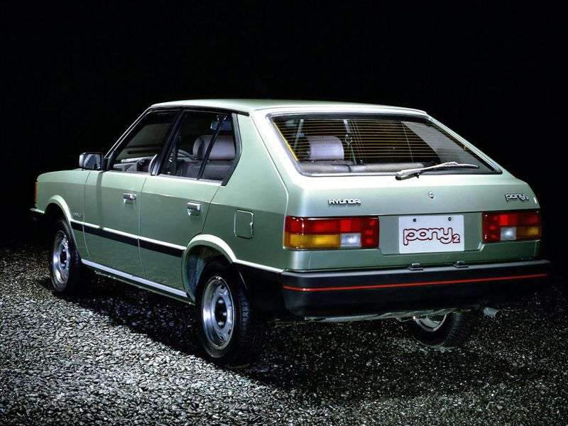 Hyundai Pony 2nd generation hatchback 1.4 MT (1982–1985)