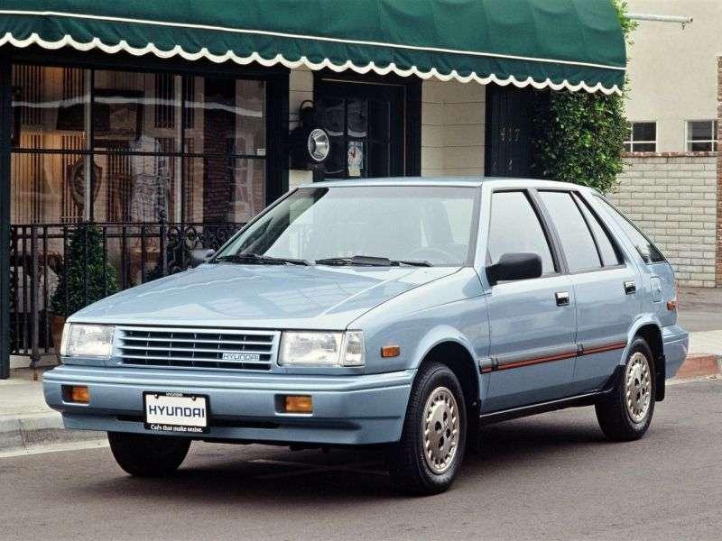 Hyundai Excel X1Hatchback 5 dv. 1.5 AT (1985–1989)
