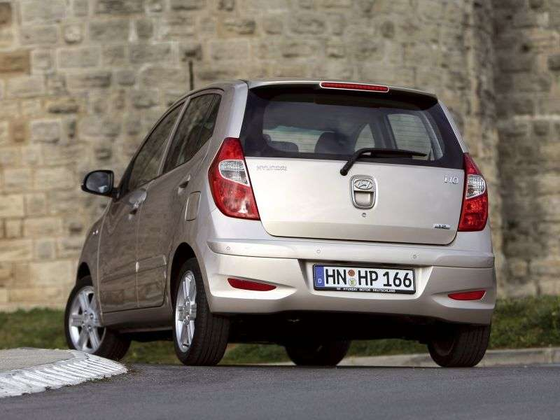 Hyundai i10 1st generation [restyled] hatchback 1.1 AT (2010 – v.)