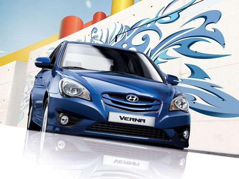 Hyundai Verna MC [restyling] Verna Transform sedan 1.6 MT (2009–2010)