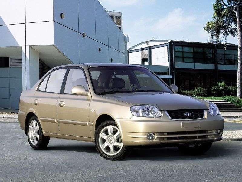 Hyundai Accent LC [restyling] 1.6 MT sedan (2002–2006)
