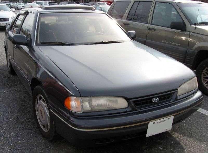 Hyundai Sonata Y2 [restyling] 2.0 MT sedan (1991–1993)