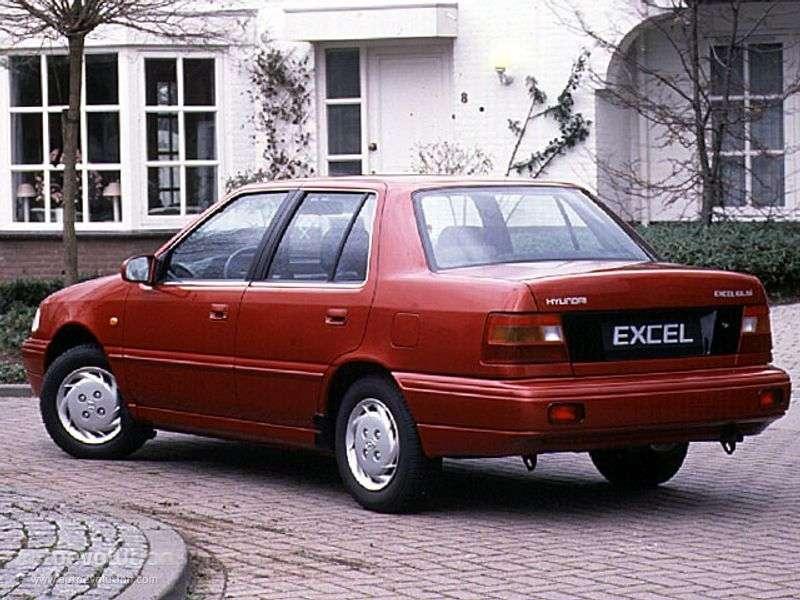 Hyundai Excel X2 [restyled] sedan 1.5 AT (1992–1994)