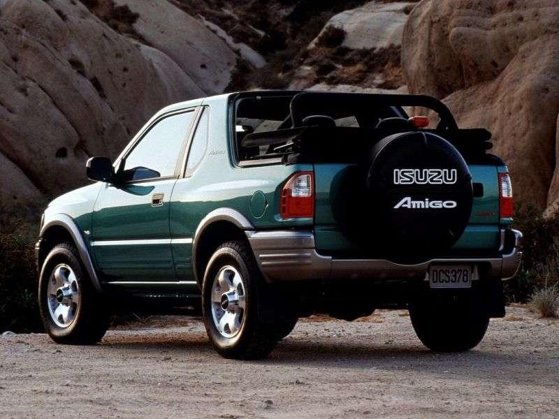 Isuzu Amigo 2. generacja [zmiana stylizacji] SUV z miękkim dachem 2.2 MT 4WD (2000 2001)