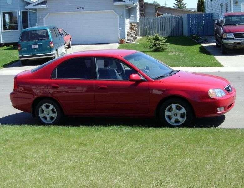 Kia Spectra 1st generation [restyling] liftback 1.8 AT (2002–2004)