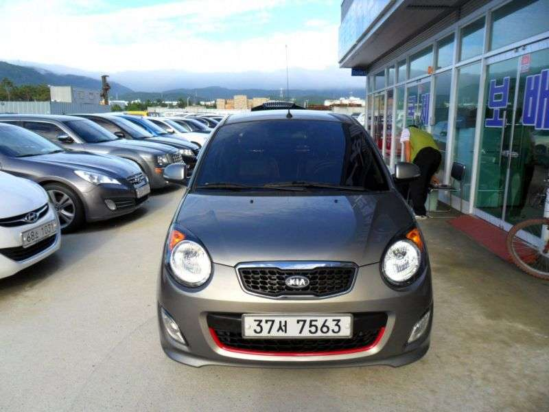 Kia Morning 1st generation [3rd restyling] hatchback 1.0 LPi AT (2010–2011)