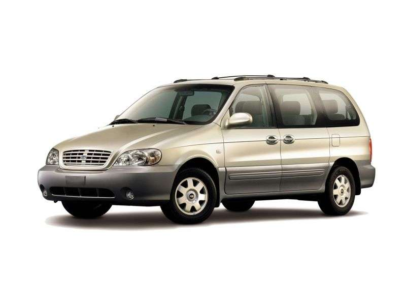 Kia Carnival 1st generation [restyled] minivan 2.5 MT (2002–2006)