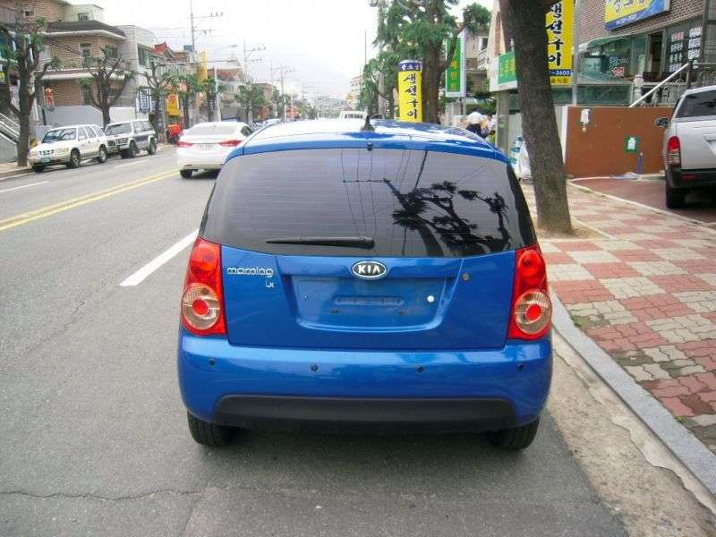 Kia Morning 1st generation [2nd restyling] hatchback 1.0 LPi AT (2009–2010)
