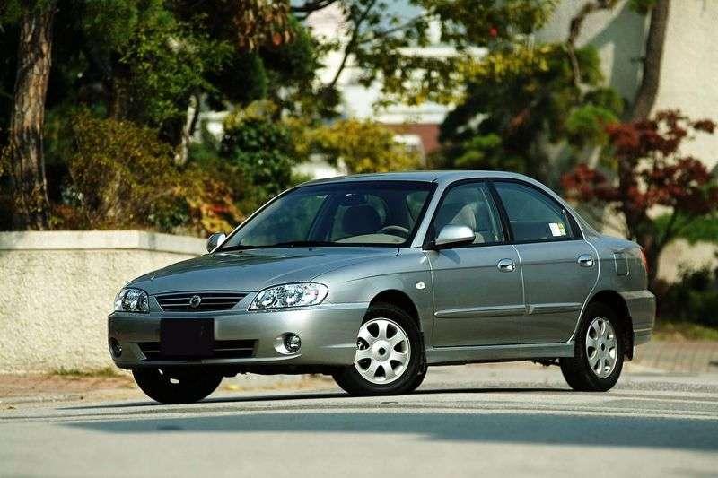 Kia Spectra 1st generation [2nd restyling] 1.5 MT sedan (2003–2004)