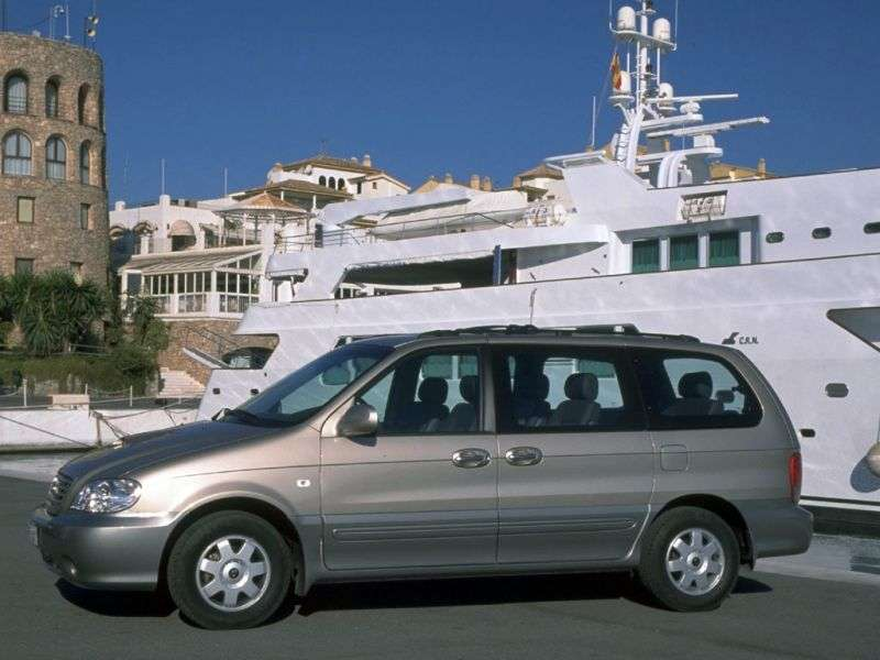 Kia Carnival 1st generation [restyled] minivan 2.9 HPDi AT (2001–2002)