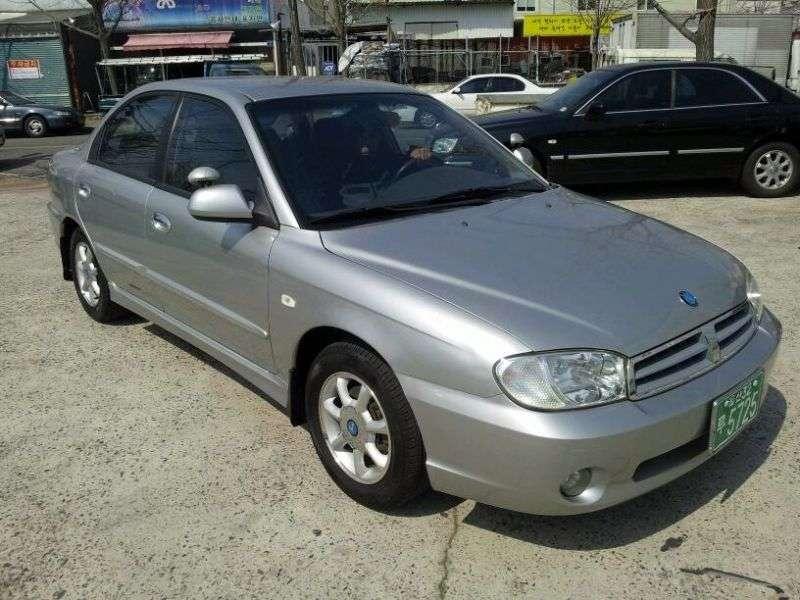 Kia Spectra 1st generation [restyling] KDM sedan 1.5 AT (2001–2003)