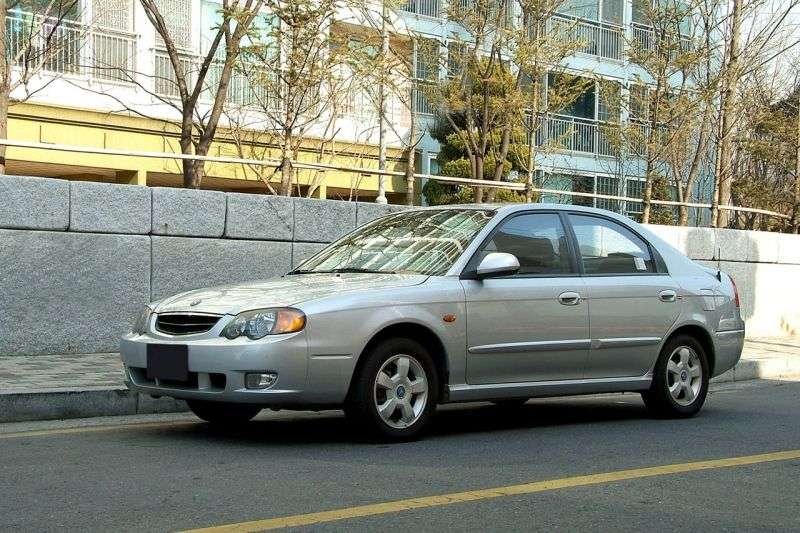 Kia Spectra 1st generation [restyled] Wing liftback 1.5 AT (2001–2004)