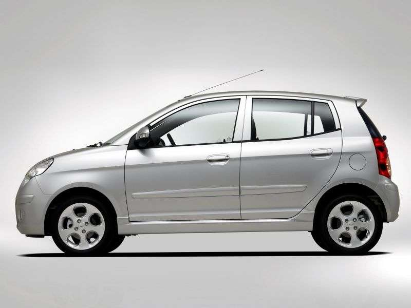Kia Picanto 1st generation [restyled] hatchback 1.1 MT (2007–2008)