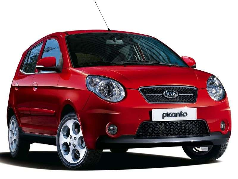 Kia Picanto 1st generation [2nd restyling] hatchback 1.0 MT (2008–2011)