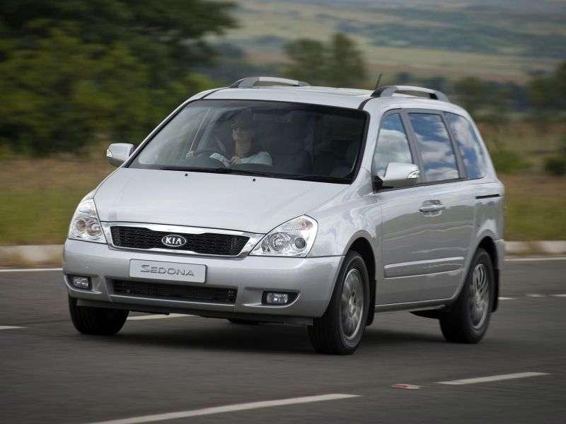 Kia Sedona 2nd generation [restyled] SWB minivan 2.2 CRDi AT (2010 – n.)