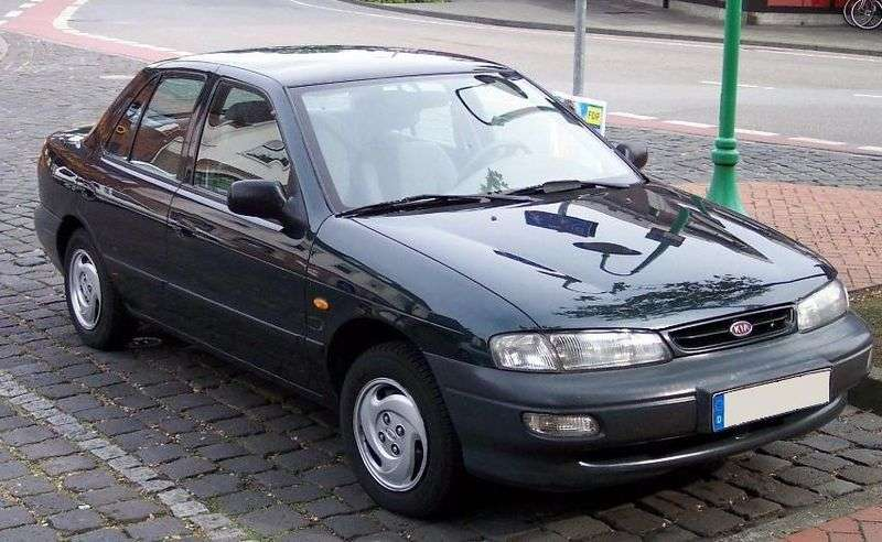 Kia Sephia 1st generation [restyled] 1.5 MT sedan (1996–1998)