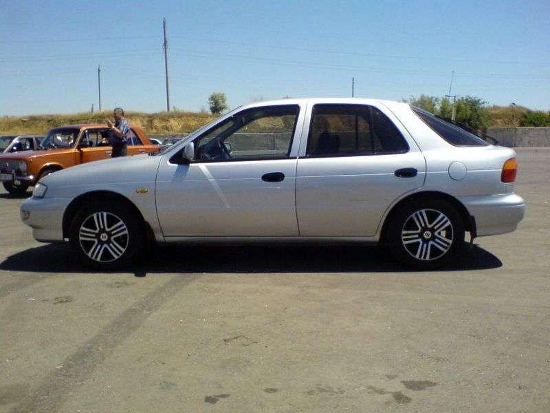 Kia Sephia 1st generation [restyled] Leo hatchback 1.5 MT (1996–1998)
