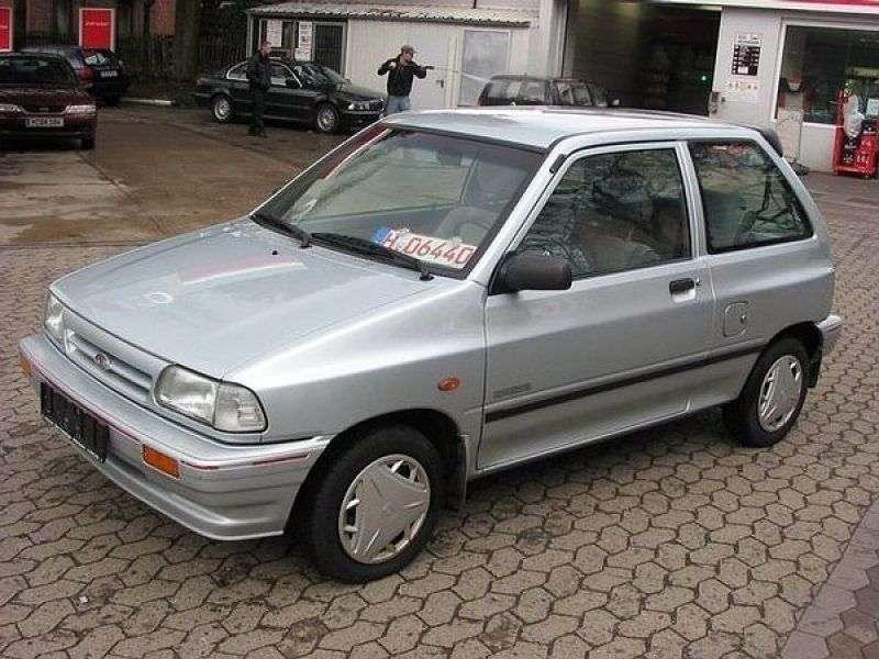 Kia Pride 1st generation hatchback 3 dv. 1.3 MT (1987–1994)