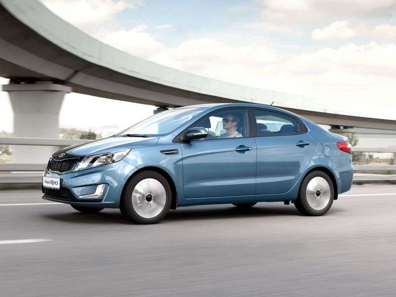 Kia Rio 3 generation sedan 4 doors 1.6 AT Prestige (2012) (2011 – current century.)