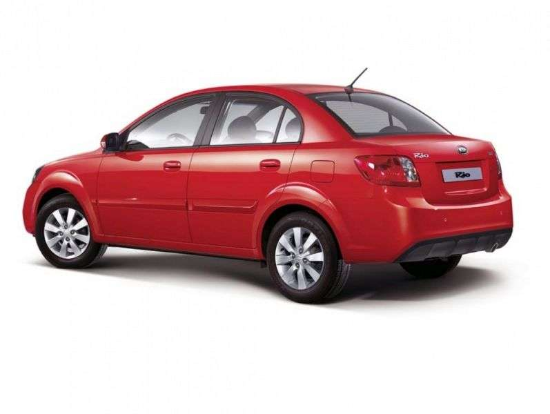 Kia Rio 2nd generation [restyling] 1.4 AT Luxe sedan (2009–2011)