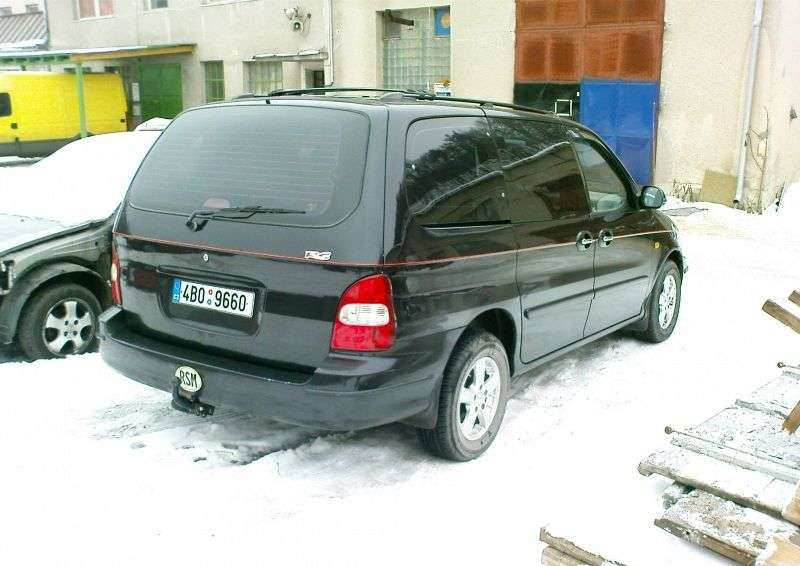 Kia Carnival 1st generation minivan 2.5 AT (1999–2002)