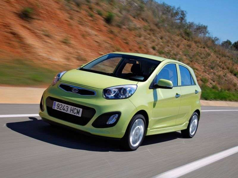 Kia Picanto 2 generation hatchback 5 dv. 1.2 AT Luxe (2012) (2011 – current century.)
