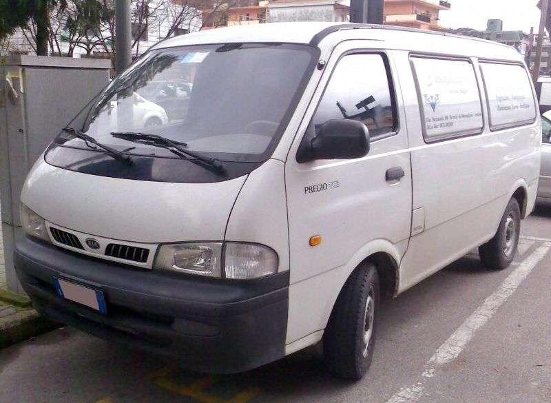 Kia Pregio 1st generation 4 door van. 2.7 D MT (1995–2003)